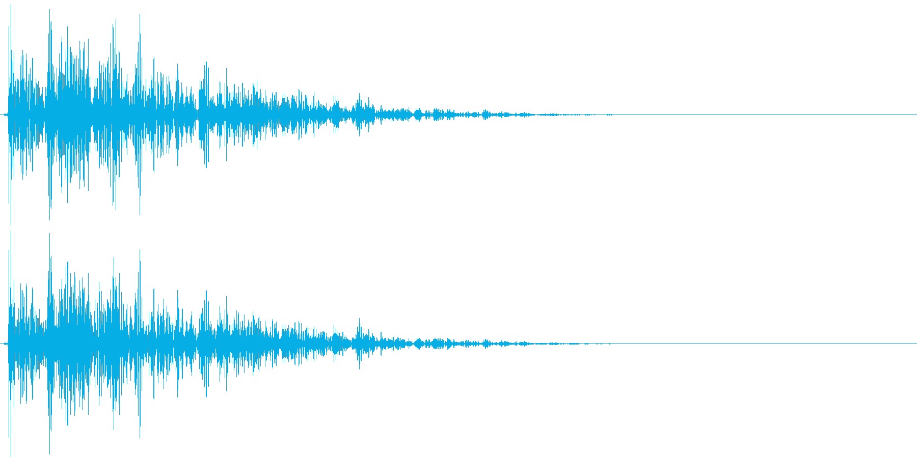 【生録音】プラのトレーを置く音 2の再生済みの波形
