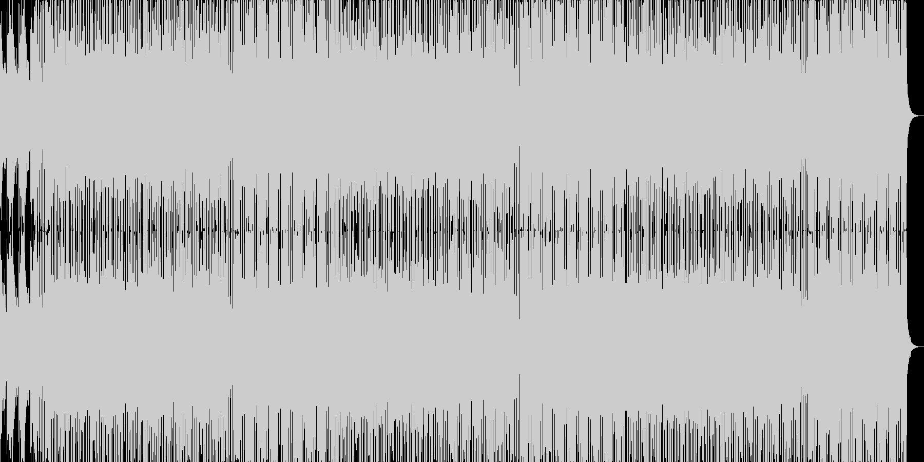 勢いのある攻撃的なHIPHOPの未再生の波形