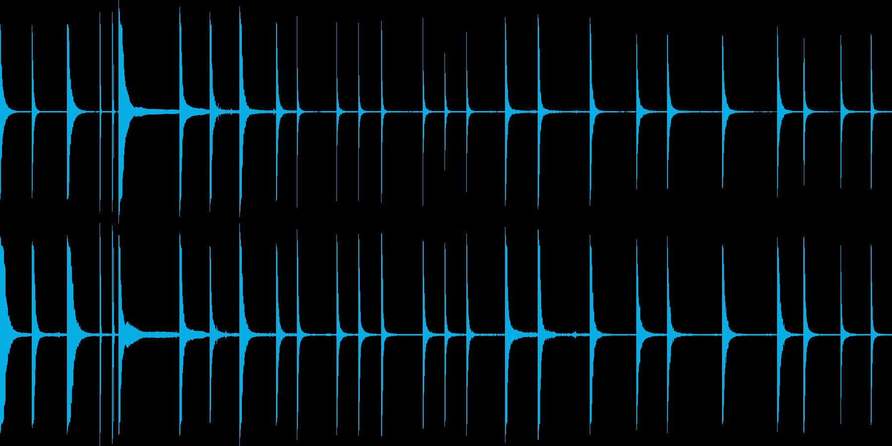 メタルクランクの再生済みの波形