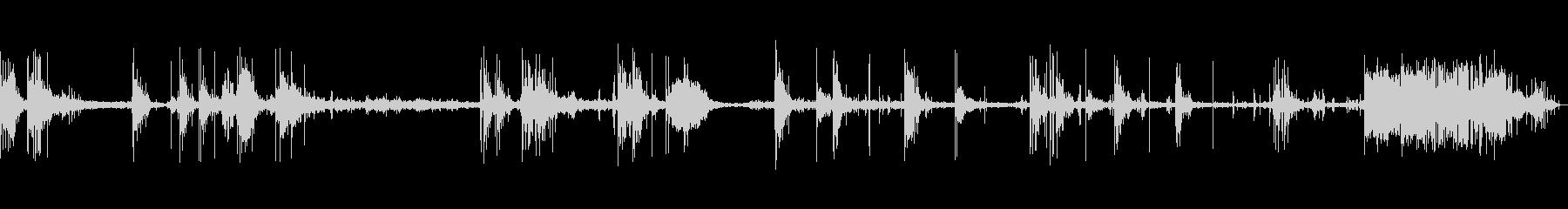 射撃範囲、音声、B / Gライフル...の未再生の波形