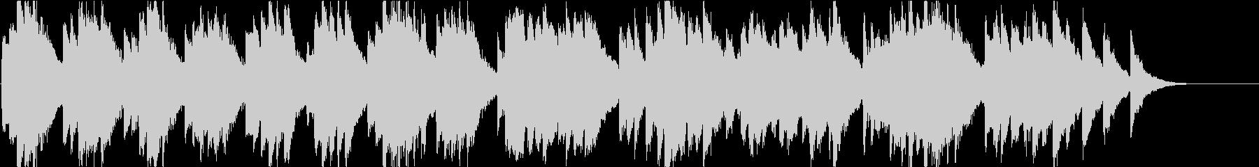 時報・チャイム風の名曲のメロディ・12の未再生の波形