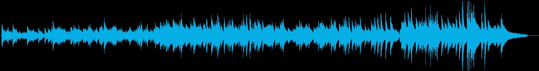 平和への約束をイメージしたピアノ曲の再生済みの波形