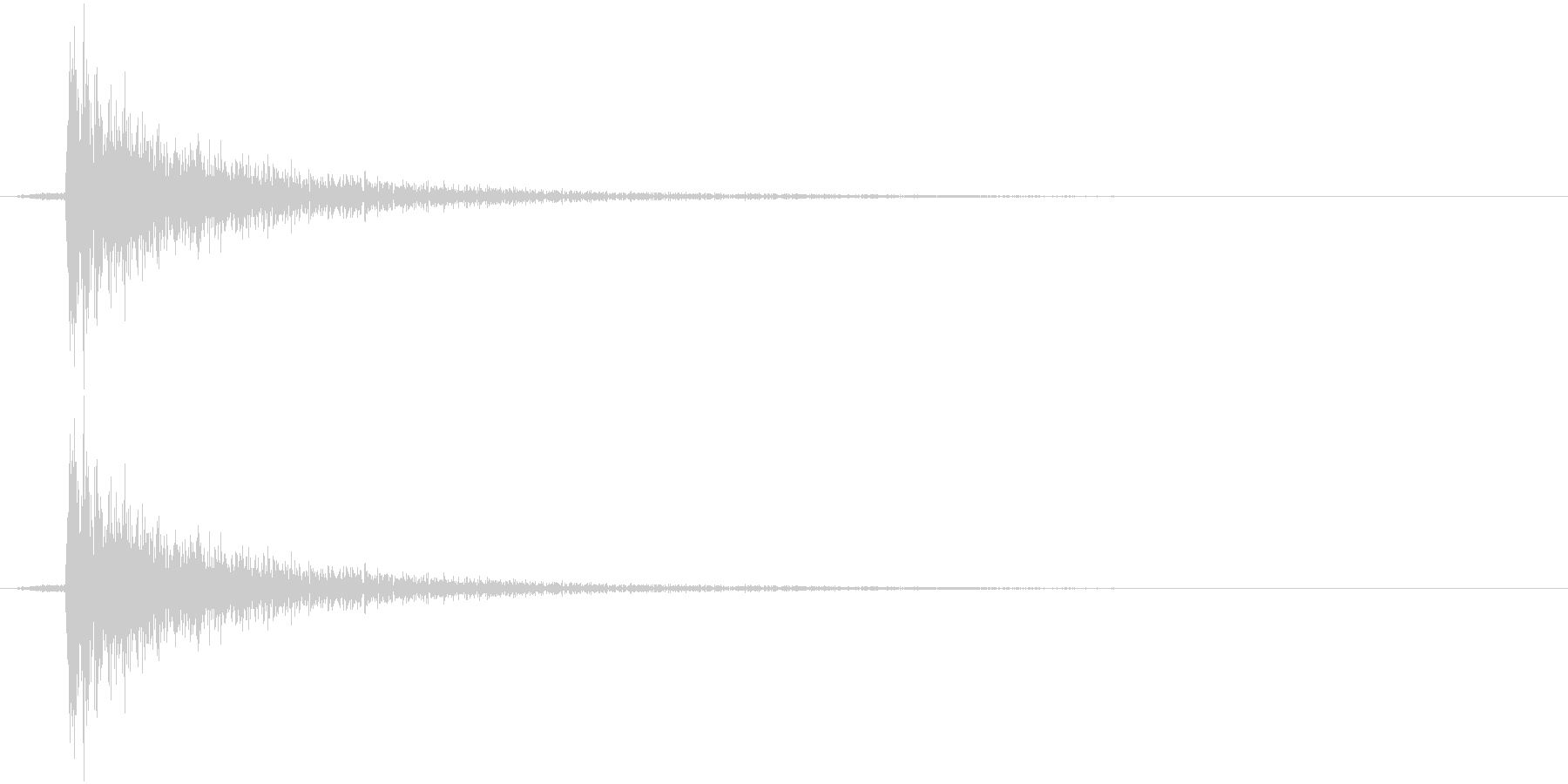 パンチの音1の未再生の波形