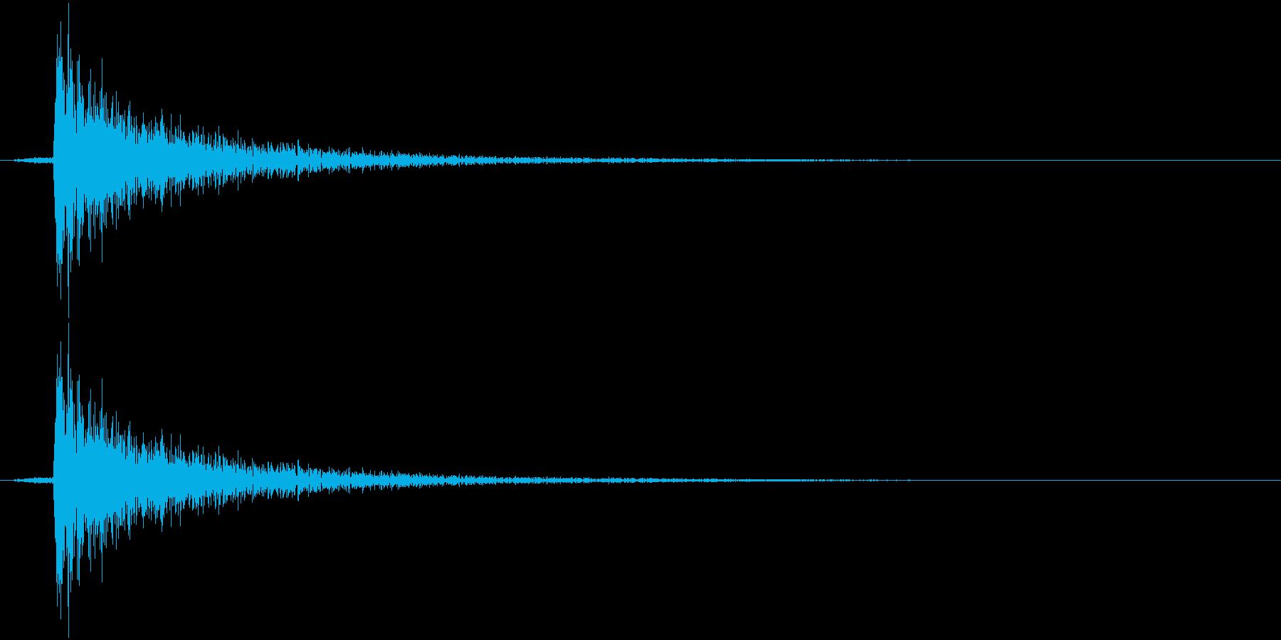 パンチの音1の再生済みの波形