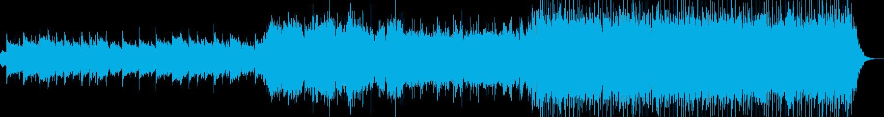 明るい感動的なエンディングの再生済みの波形
