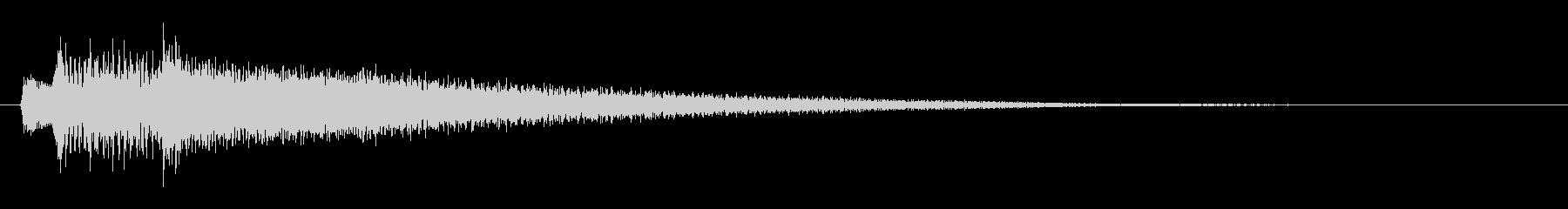 不安や疑惑を煽るピアノ効果音 ジャラーンの未再生の波形