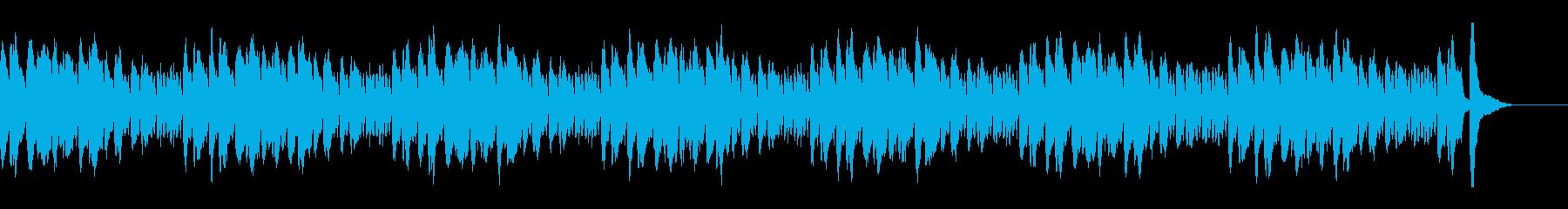 悲壮感のあるピアノ曲の再生済みの波形