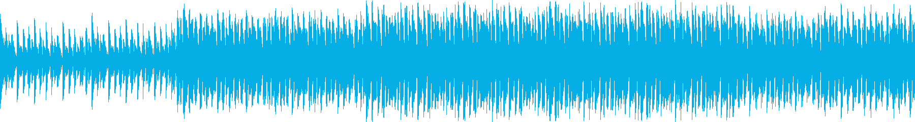 ノリノリのピアノとシンセのループ曲の再生済みの波形