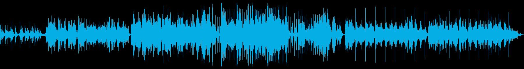 万葉集をテーマにした和風BGMの再生済みの波形