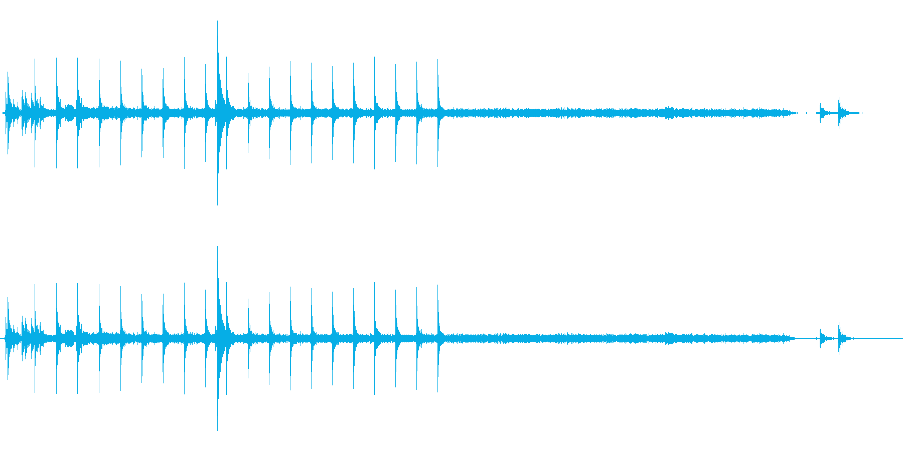 点火音の再生済みの波形