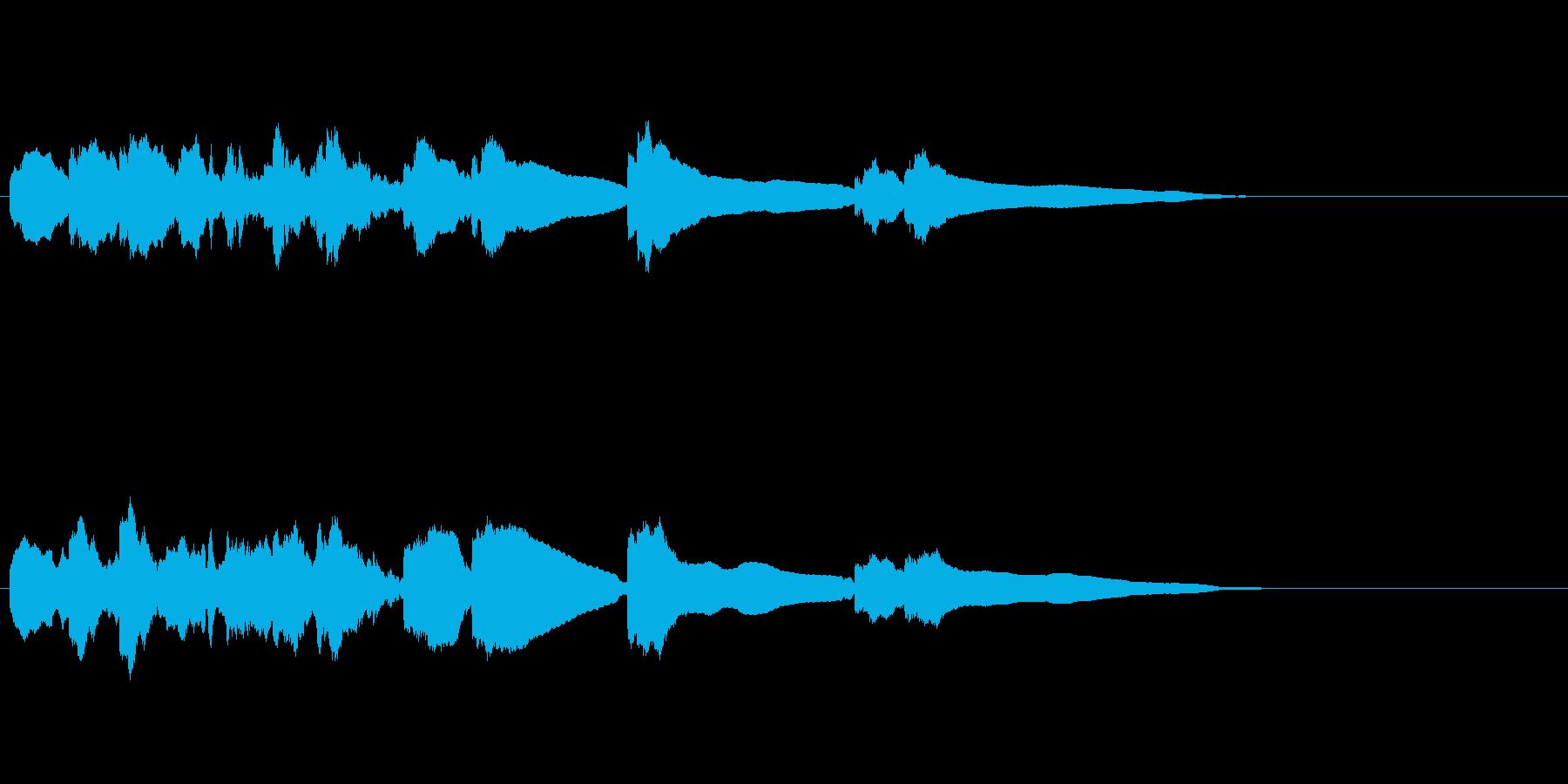 エレキギター3弦チューニング2リバーブの再生済みの波形