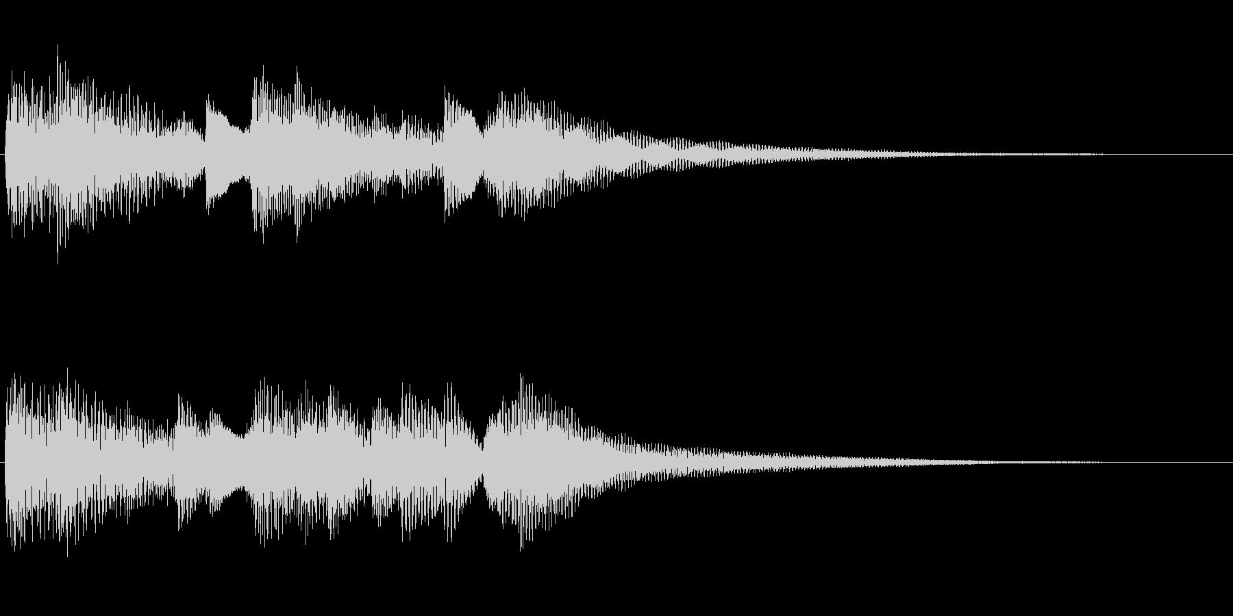 ピアノサウンドロゴの未再生の波形