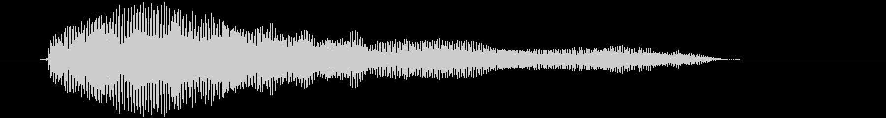 おもちゃの笛 (押す、潰す) プゥゥゥ~の未再生の波形