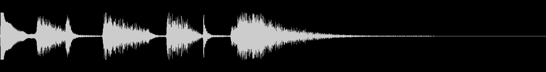 オシャレなアコギのジングルその3の未再生の波形