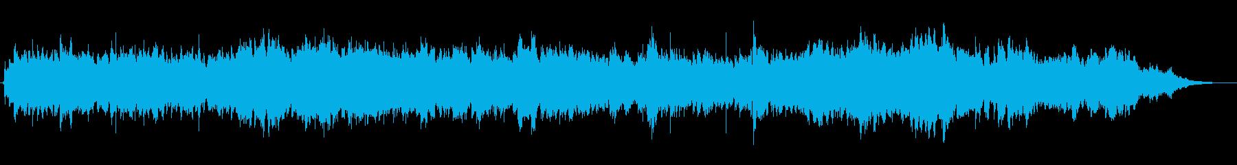 ハープとシンセパッドの優しいジングルの再生済みの波形