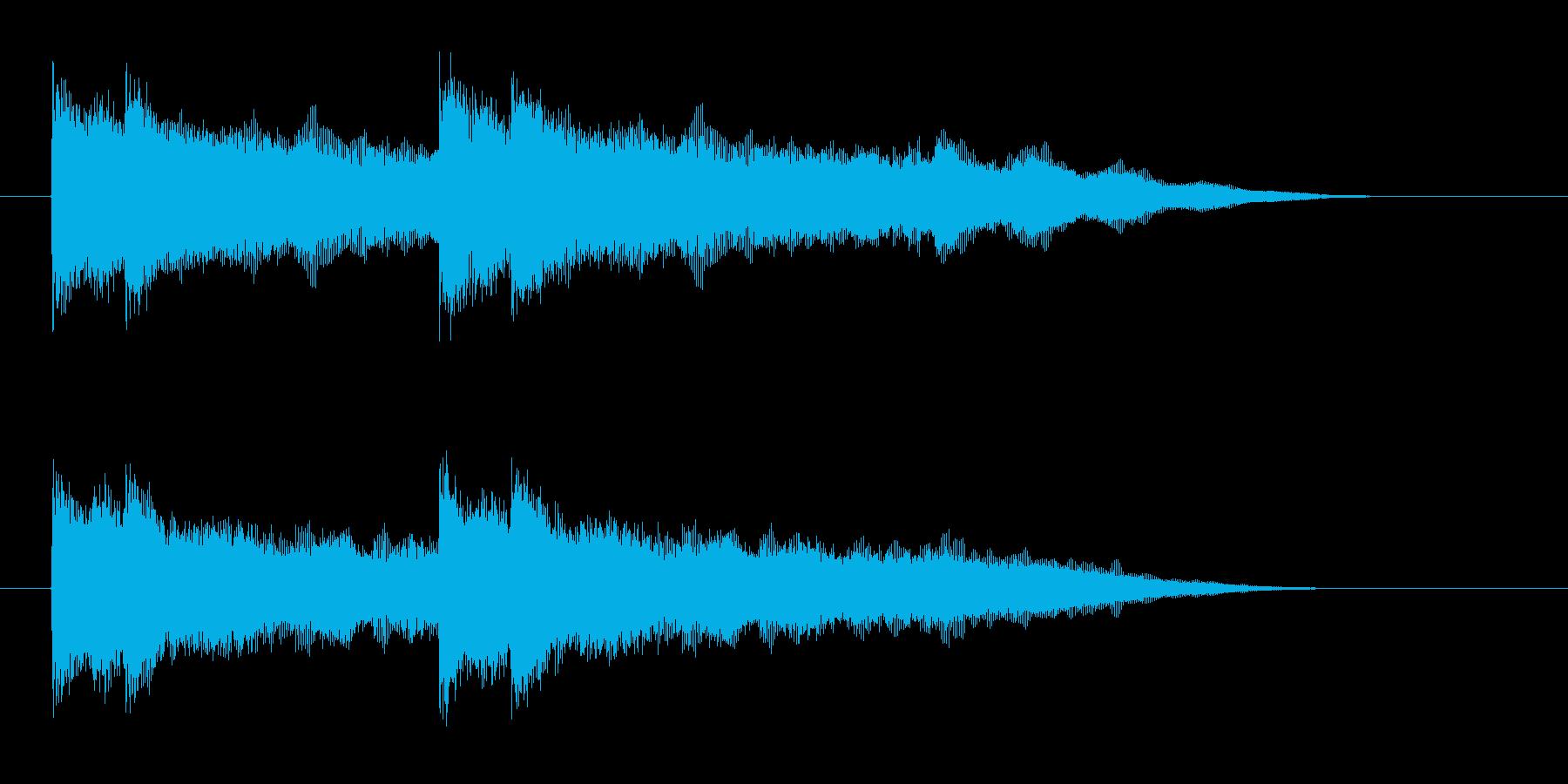 クールでダイナミックなロックジングルの再生済みの波形