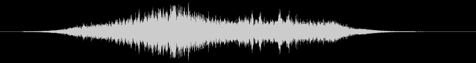 緊張 ゴースト合唱団トランジション01の未再生の波形