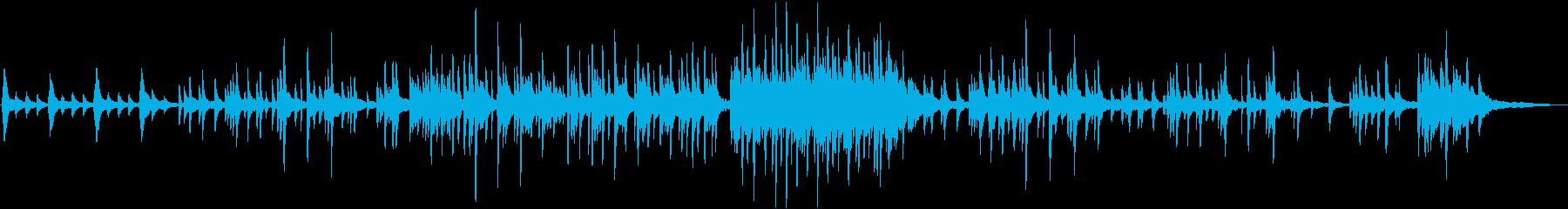 ピアノソロ生演奏による切ないヒーリングの再生済みの波形