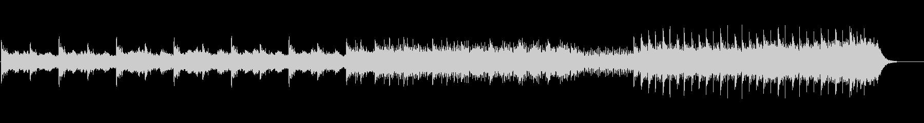 癒されるヒーリングピアノの未再生の波形