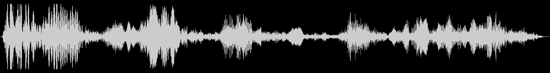 メカニカル_重量_駆動音の未再生の波形