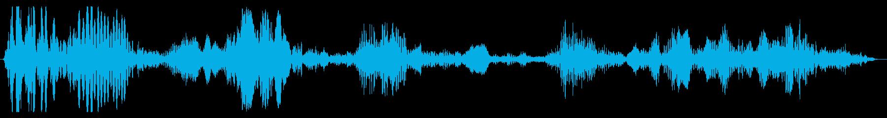 メカニカル_重量_駆動音の再生済みの波形