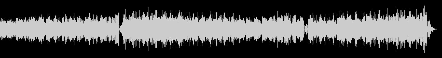 スフレのように柔らかい音色のテクノの未再生の波形