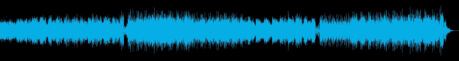スフレのように柔らかい音色のテクノの再生済みの波形