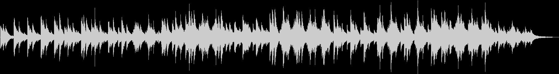 しっとりとしたピアノバラードの未再生の波形