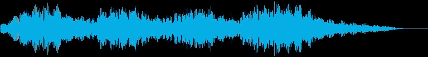 何だっけ?と考えている時のビブラフォン音の再生済みの波形