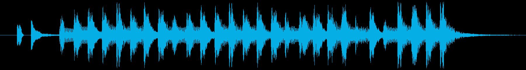 おもしろパロディーの再生済みの波形