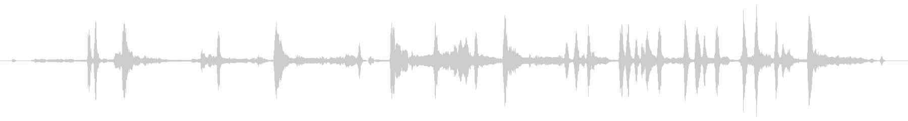 シベリアンハスキー:内線:中群、激...の未再生の波形