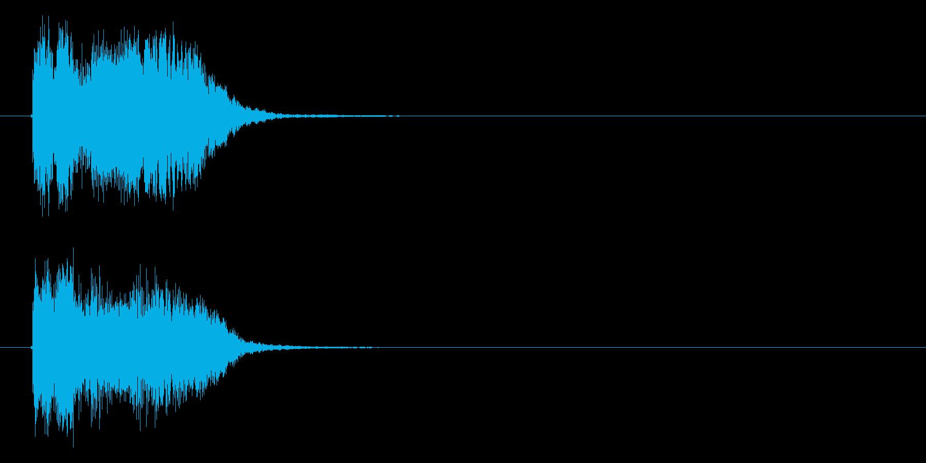 わくわくするSF風のジングルの再生済みの波形