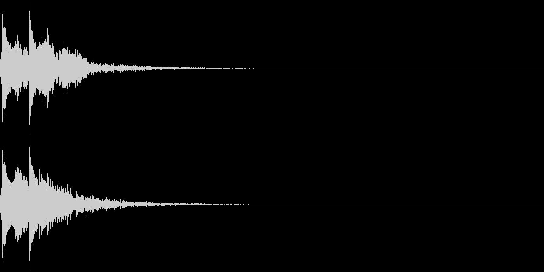 ポピンの未再生の波形
