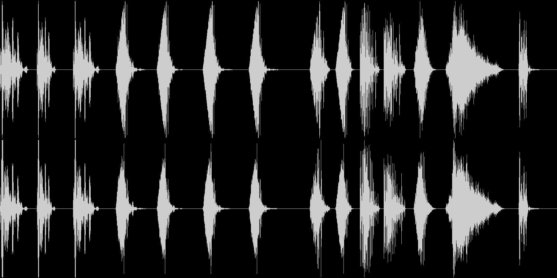 さまざまな電子レーザーレーザーブラ...の未再生の波形