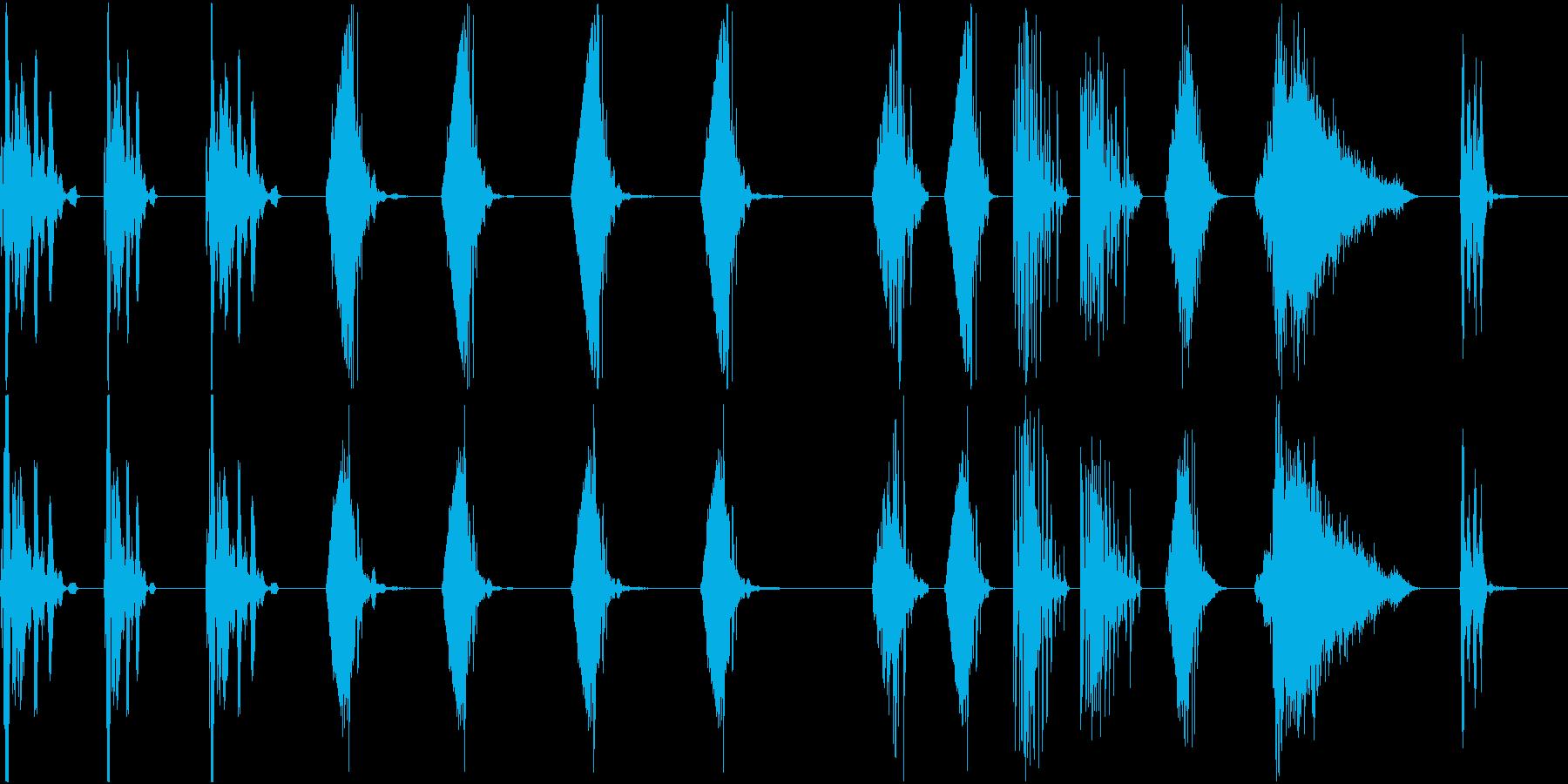 さまざまな電子レーザーレーザーブラ...の再生済みの波形
