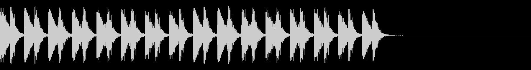 ロボット走るA07の未再生の波形