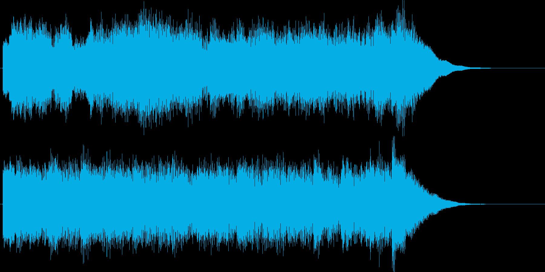 明るくきらきらした8秒間のチャイムの再生済みの波形