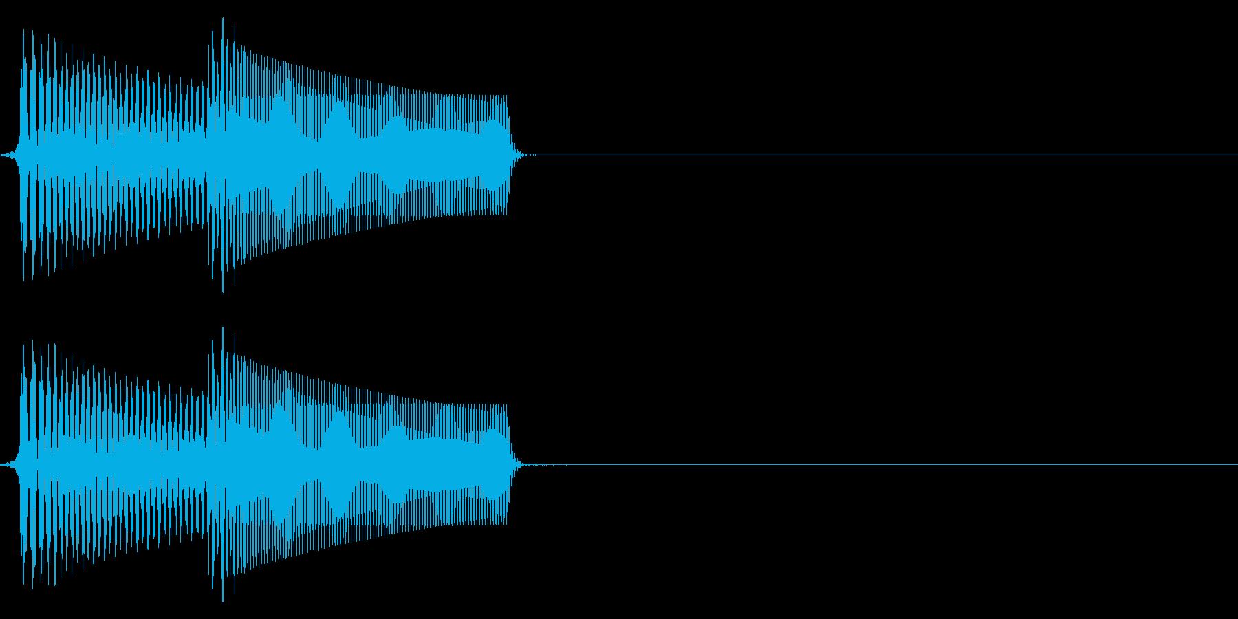 エラー/シンプル/かわいいの再生済みの波形