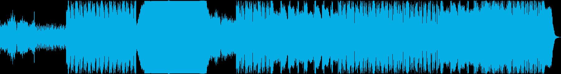 物悲しくも前向きなリズムのあるBGMの再生済みの波形