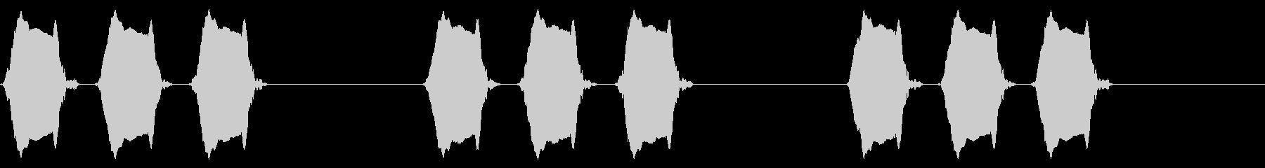携帯電話 バイブレーション03-17(毛の未再生の波形