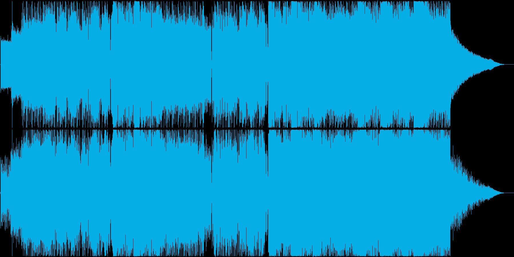 【透明感のある歌声】ミドルロックバラードの再生済みの波形