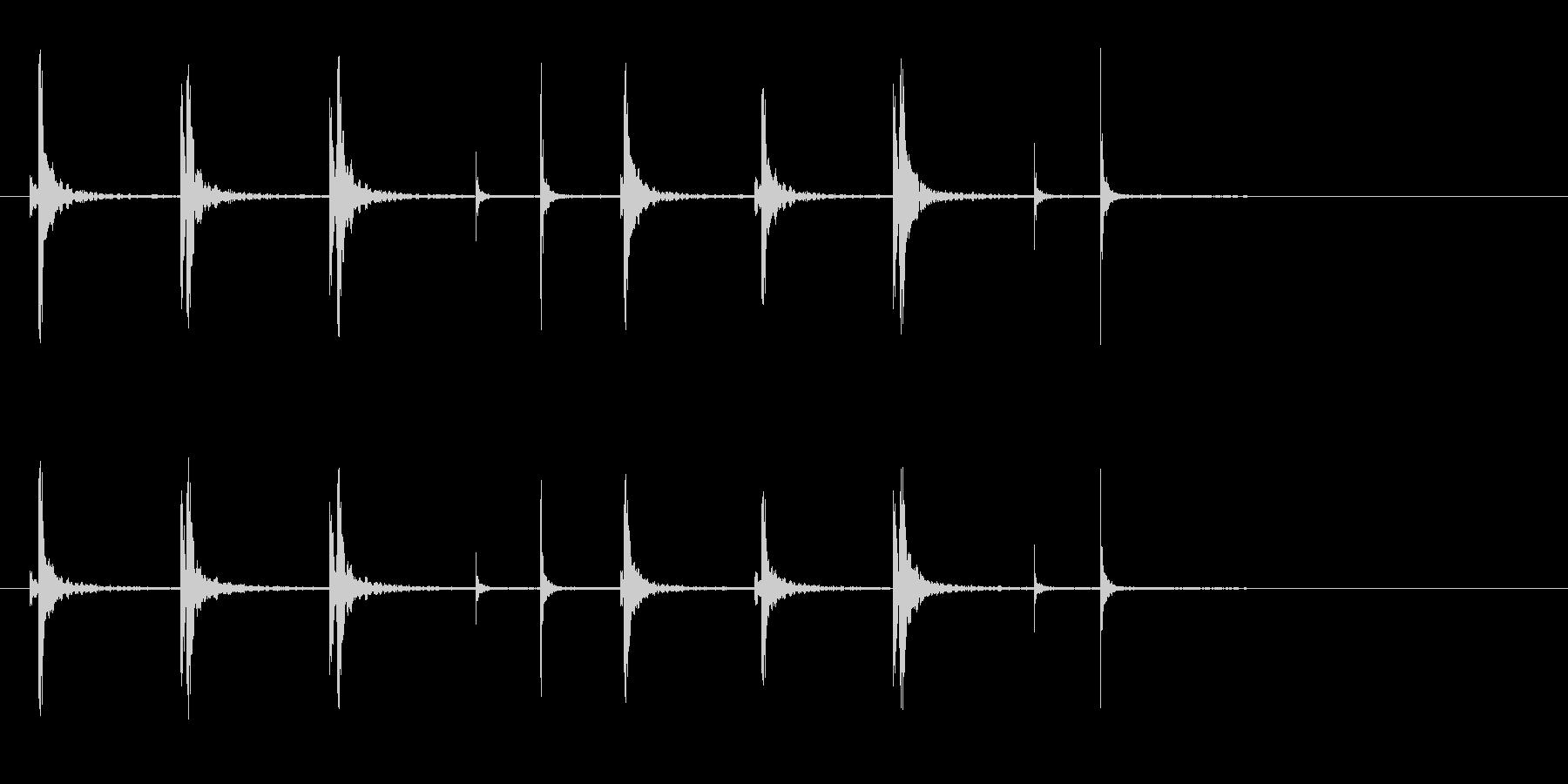 和太鼓の桶胴(おけどう)フレーズ音+Fxの未再生の波形
