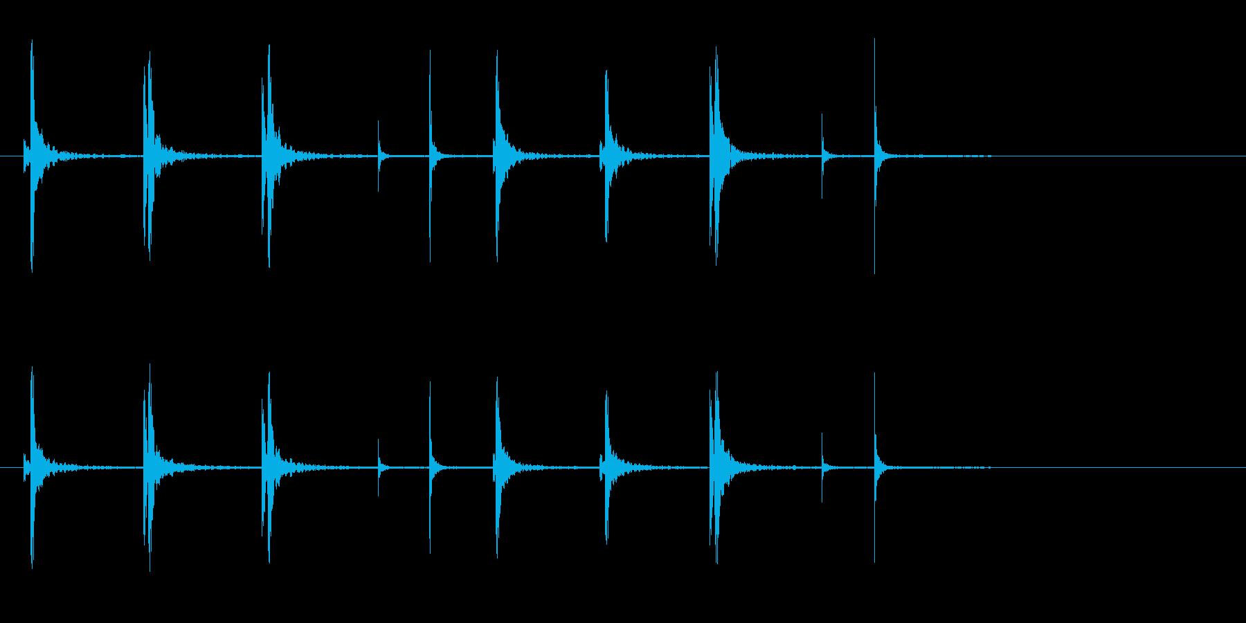 和太鼓の桶胴(おけどう)フレーズ音+Fxの再生済みの波形