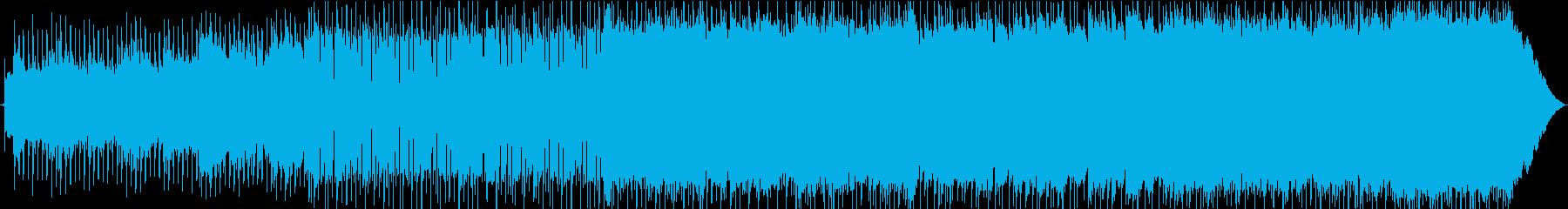 爽やかなポップロックBGMの再生済みの波形