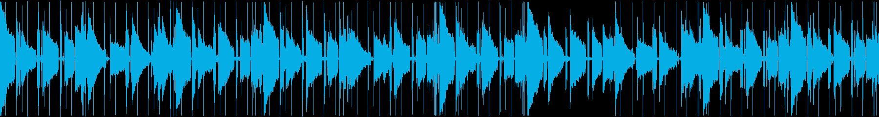 色っぽいエレキギターが響くループの再生済みの波形