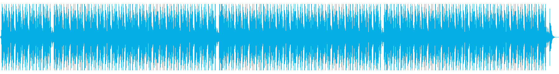 ジャズなローファイヒップホップの再生済みの波形