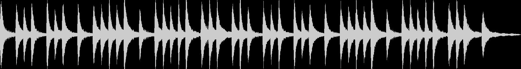 幻想的なピアノアンビエントの未再生の波形
