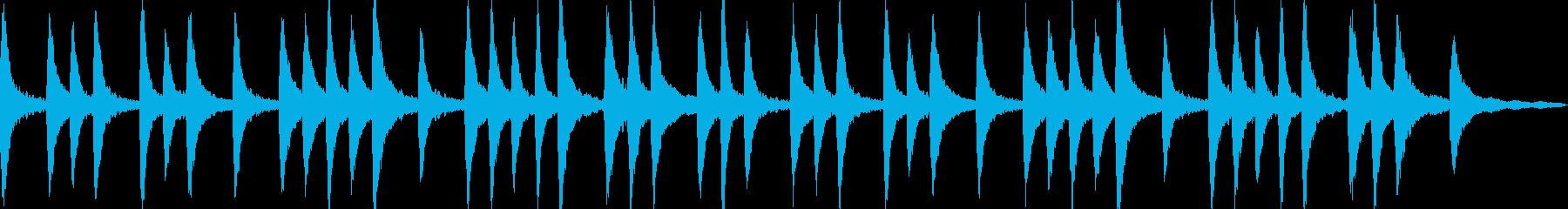 幻想的なピアノアンビエントの再生済みの波形