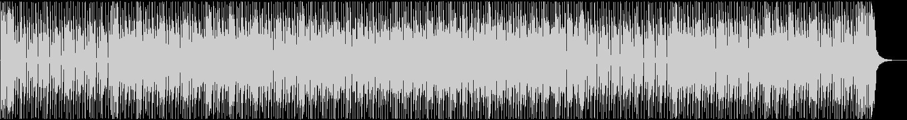 シンプルでタイトなリズムのファンクの未再生の波形
