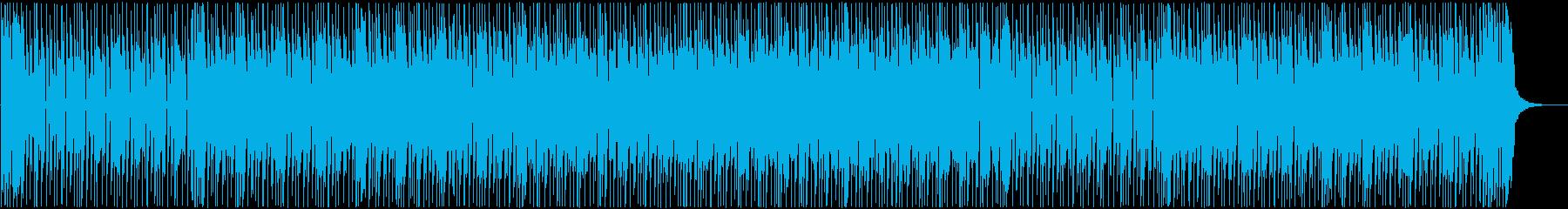 シンプルでタイトなリズムのファンクの再生済みの波形